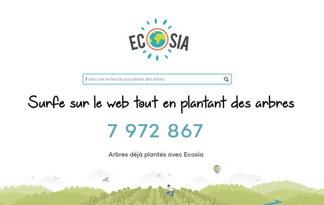 Ecosia moteur de recherche vert