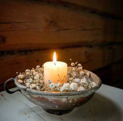Flamme de bougie- Lumière