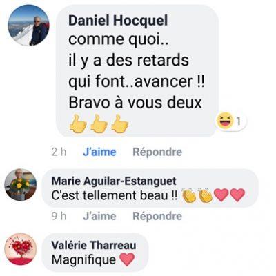commentaires sur Facebook Valérie Marie