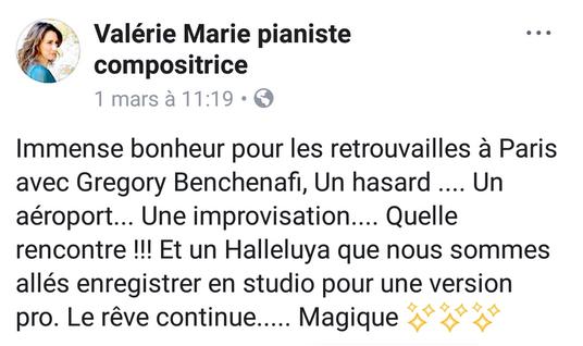 Message de Valérie marie