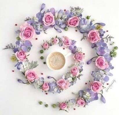 spirale de fleurs en couronne