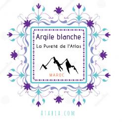 Poudre d'argile blanche rassoul des montagnes du Maroc