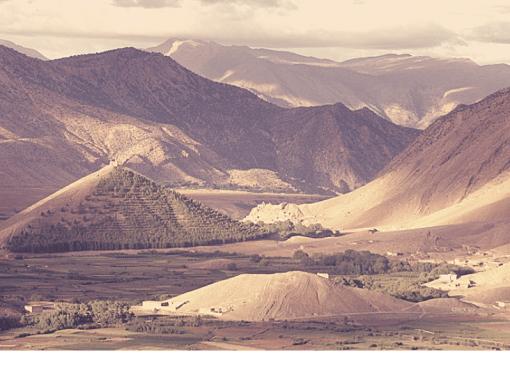 Montagnes de l'atlas du Maroc