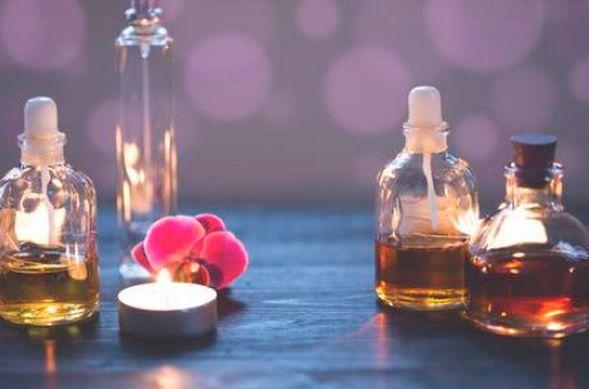 Flacons de huiles essentielles