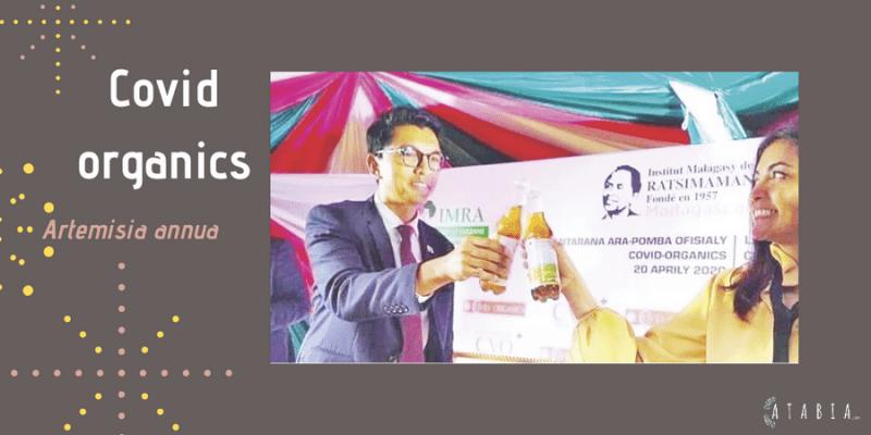 Président de madagascar Andry-Rajoelina-présente le Covid-organics