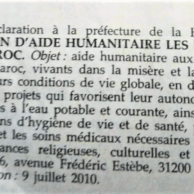 Déclaration Journal Officiel Enfants du Douar