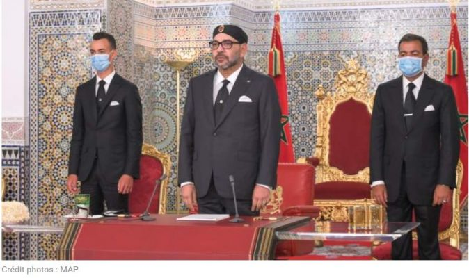 Le roi Mohammed VI, son fils, le prince Moulay Al-Hassan